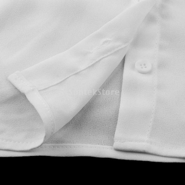 Flameer 女性 偽の襟 取り外し可能 付け襟 ブラウス 刺繍 蝶