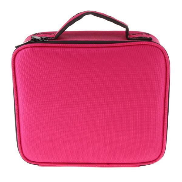 化粧品オーガナイザーメイクアップバッグ収納ケースクロスボディバッグトートバッグショルダーローズレッドS