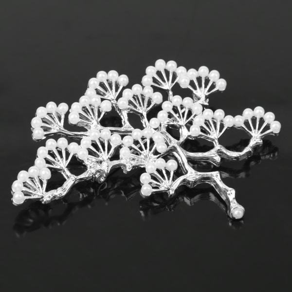 ノーブランド品 銀メッキ ブランチ設計 真珠のブローチ 結婚式のパーティー ブライダル ピン ギフト |stk-shop|02