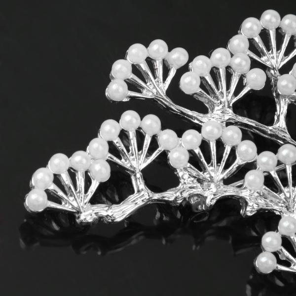 ノーブランド品 銀メッキ ブランチ設計 真珠のブローチ 結婚式のパーティー ブライダル ピン ギフト |stk-shop|03