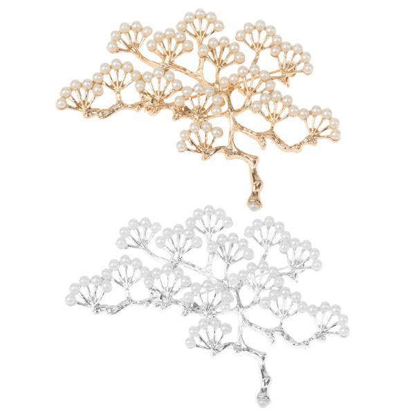 ノーブランド品 銀メッキ ブランチ設計 真珠のブローチ 結婚式のパーティー ブライダル ピン ギフト |stk-shop|04
