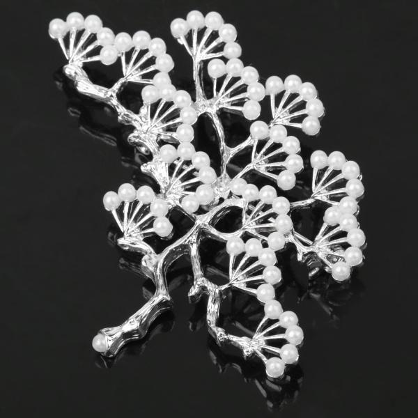 ノーブランド品 銀メッキ ブランチ設計 真珠のブローチ 結婚式のパーティー ブライダル ピン ギフト |stk-shop|06