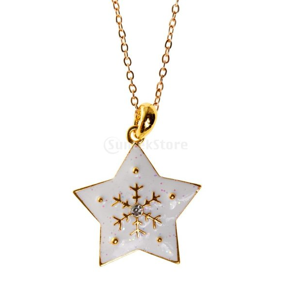 SONONIA クリスマスギフト 五芒星 ドロップ ネックレス ピアスセット ジュエリーセット