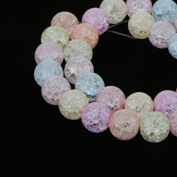 Dovewill マルチカラー クリスタル 宝石ラウンド ルース ビーズ アクセサリー 飾り DIY 12ミリメートル 約30個