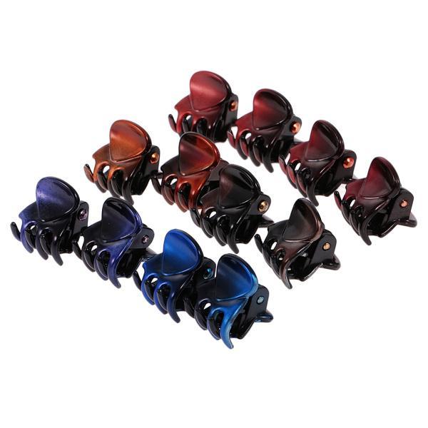 12個/ロットレディーガールミニヘアレジンクローズクランプクリップヘアグリップ|stk-shop|13