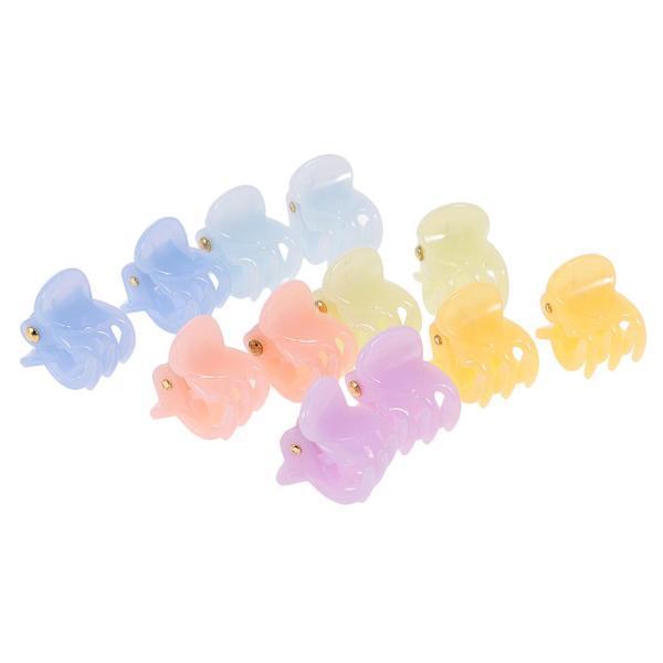 12個/ロットレディーガールミニヘアレジンクローズクランプクリップヘアグリップ|stk-shop|15