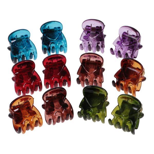 12個/ロットレディーガールミニヘアレジンクローズクランプクリップヘアグリップ|stk-shop|17