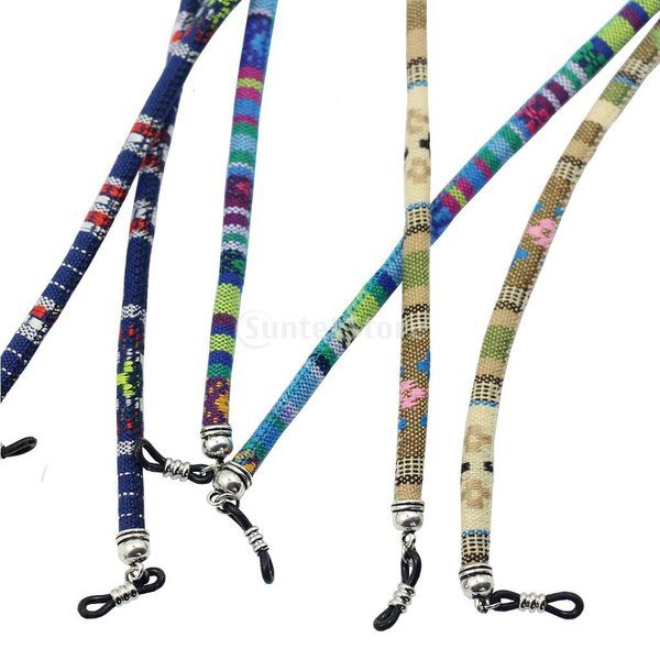 メガネチェーン 眼鏡ロープ めがね紐 メガネコード 全4色 - イエロー