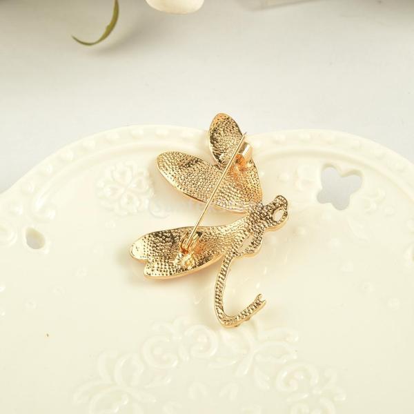Sharplace 可愛い エナメル 昆虫のブローチ 全4種類 - トンボ