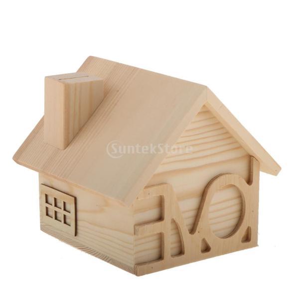 子供 木製 貯金箱 お金 コイン 節約 ボックス コンテナ テーブル 装飾