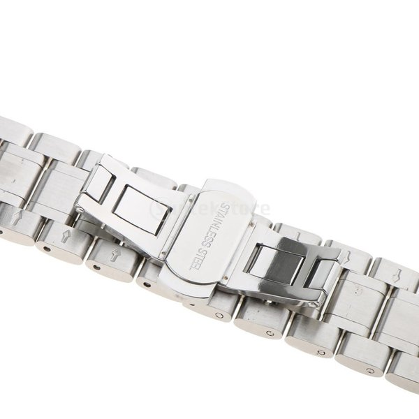 Perfk 腕時計用ベルト 時計バンド  時計ストラップ  簡単交換ベルト 多種類選べる - シルバー24mm