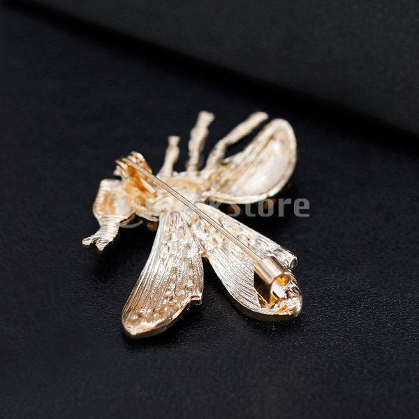 Blesiya 1個 ラインストーン 合金 素敵 ミニ ミツバチ型 ブローチピン 女性 男性 ジュエリー