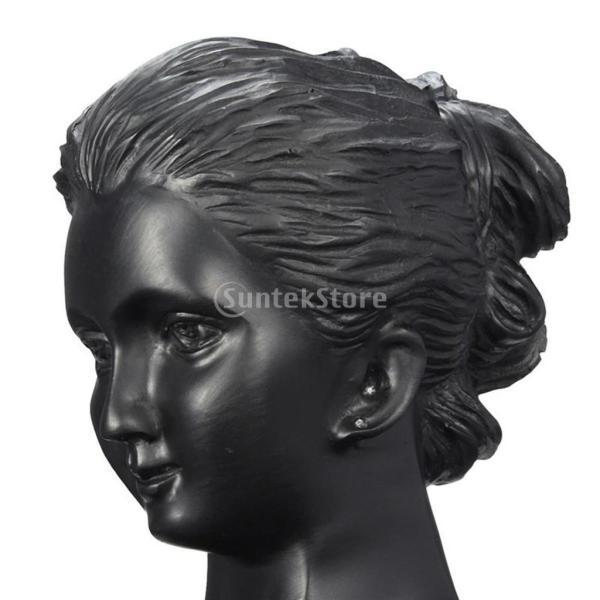 Baoblaze 黒い樹脂 ジュエリーディスプレイ マネキンモデル 置物 ラック カウンターディスプレイ