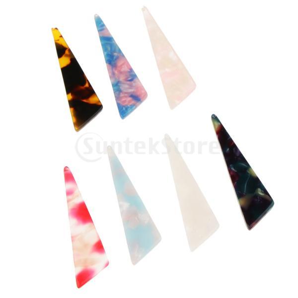 IPOTCH アクリルペンダント ペンダント 三角形 DIY イヤリング ネックレス ジュエリー アクセサリー パーツ
