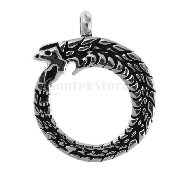 ペットのため メモリアルペンダント ペンダント ネックレス 火葬灰 遺骨 ボクス 記念品 全10種 - 丸いヘビ