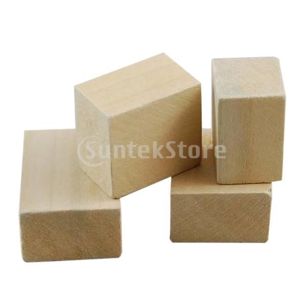 FLAMEER 子供 正方形 木製ビーズ DIY ビーズ 木工 工芸品 未完成 木 ブロック 全3サイズ 100個セット - 1.5 * 1.5 * 1.5cm