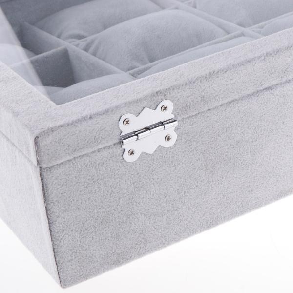 ふたが付いている宝石類のブレスレットの腕時計の腕輪のための12スロットビロードの枕箱