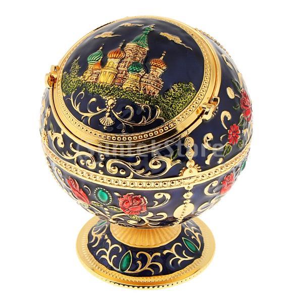 ふた防風灰皿家の装飾Royalblue城が付いている金属の宝石箱