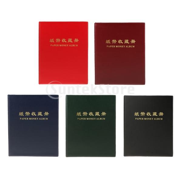 紙幣 コレクション 通貨紙幣ホルダー アルバム ブック 透明性 20ページ stk-shop 06