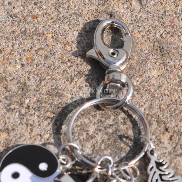 ノーブランド品 羽毛 黒瑪瑙 キーフォブ ドリームキャッチャー 車 財布 キーリング装飾 ギフト