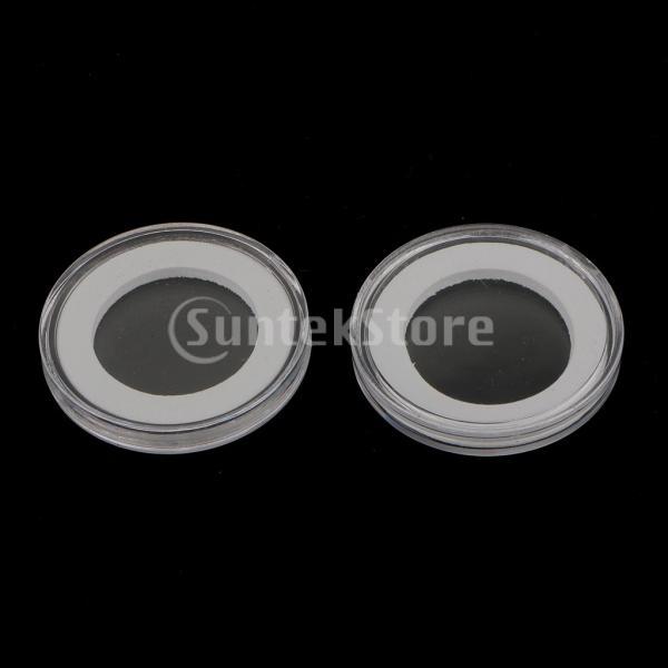 ノーブランド品 記念コイン ギフト ボックス ファンシー ダブル コインホルダー ギフト 全2色2サイズ (40mm, レッド)|stk-shop|03