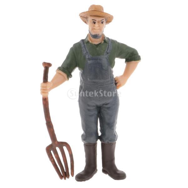リアル農家のモデルフィギュア置物おもちゃ部屋の飾りギフト全8パタン-#6,8.5センチメートル