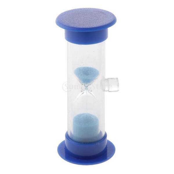 全5色 3分計 砂時計 吸盤式 料理タイミング ゲーム用 卓上 置物 贈り物  - 青