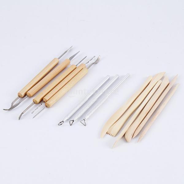 Dovewill 14本 11木製や3金属 粘土 ワックス彫り 陶磁器 粘土 彫刻ツール 両面用 ギフト stk-shop 03