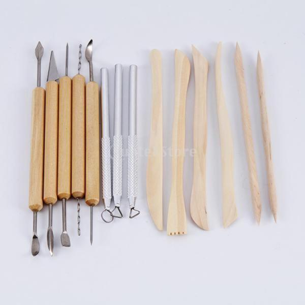 Dovewill 14本 11木製や3金属 粘土 ワックス彫り 陶磁器 粘土 彫刻ツール 両面用 ギフト stk-shop 04