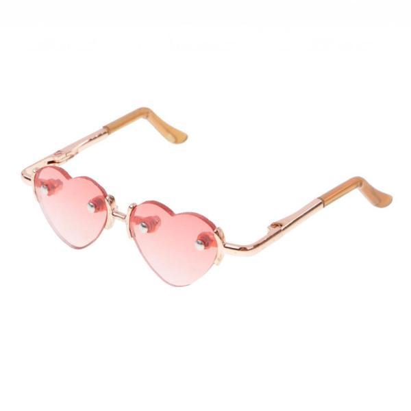 ハートフレームメガネ 眼鏡 1/3スケール BJD SD人形 アクセサリー ドール対応 アイウェア レトロスタイル ギフト