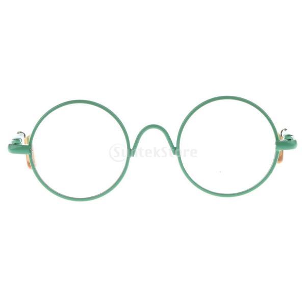 12インチドール用アイメガネ 人形ドール アクセサリー 1/6スケール ラウンドフレーム眼鏡 10色選ぶ - グリーン
