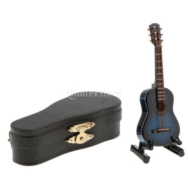 1/12ドールハウス ミニチュア 小物 楽器 木製ギター ボックス付き 装飾