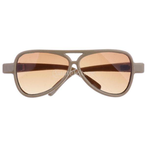 ファッション ヒッピー メタルフレーム 丸型眼鏡 アイメガネ ドール アクセサリー 1/3スケールBJD 人形ドール用 8色選択でき - #4