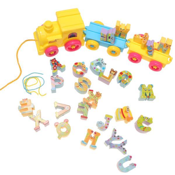 プラスチック製 創造性開発 子ども 知育 教育玩具 26英語文字 電車レター