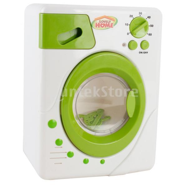Perfeclan 全7カラー ままごと玩具 調理用品 ジューサー コーヒーマシン 洗濯機 家電おもちゃ 子ども ごっこ遊びセット - 洗濯機