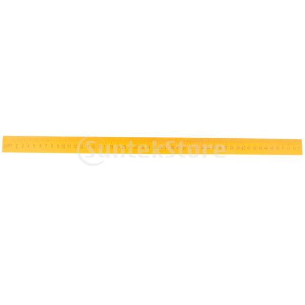 B Baosity 木製 メートルスケール  直線 定規 ルーラー 文房具 メジャー 2サイズ - 50cm