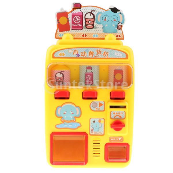 KESOTO お店屋さん ごっこ遊び 自動販売機 ふり遊びおもちゃ ままごと遊び おもちゃ 2色選択 - イエロー stk-shop