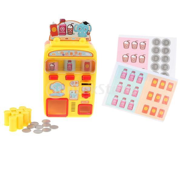 KESOTO お店屋さん ごっこ遊び 自動販売機 ふり遊びおもちゃ ままごと遊び おもちゃ 2色選択 - イエロー stk-shop 07