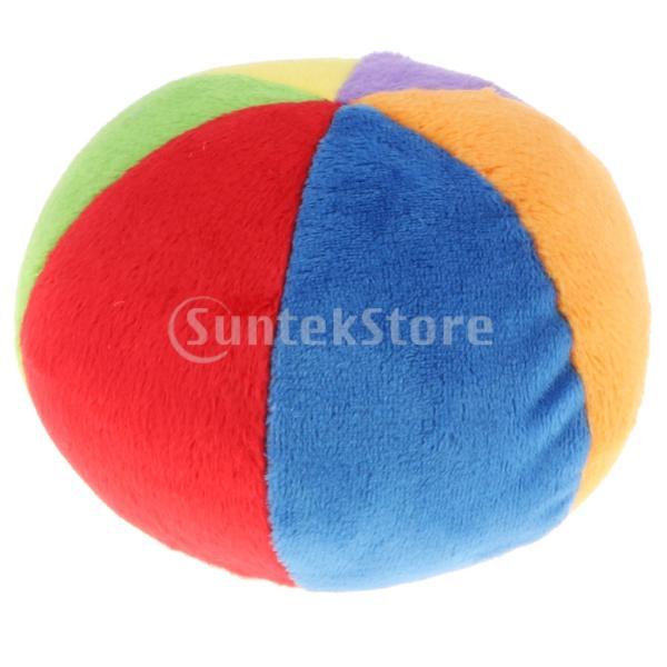 赤ちゃん 虹色 柔らかいぬいぐるみ 三角 ボール ラトル 早期発達おもちゃ 贈り物 2色 - ボールラトル
