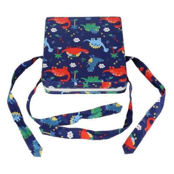 かわいい赤ちゃんキッズスクエアチェアブースターシートクッションハイチェアシートパッドブルー