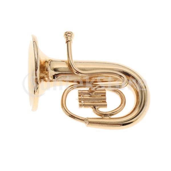 1/12ドールハウス 家具 ミニ チューバ モデル ミニチュア DIY 音楽室 楽器モデル 玩具