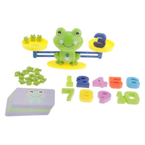 数学ゲームのおもちゃ-カエルの数のバランスゲーム緑の学習教育玩具