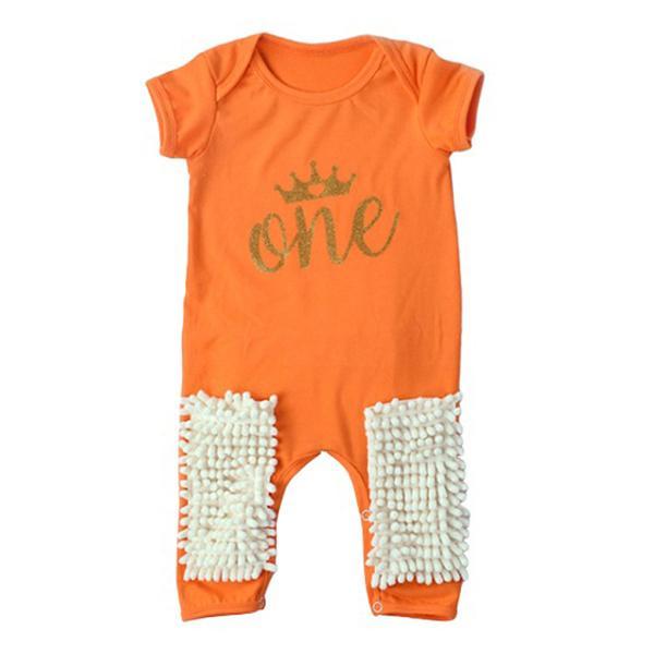 幼児モップクロールロンパー夏ソフトコットン新生児赤ちゃんワンピース80 cm A