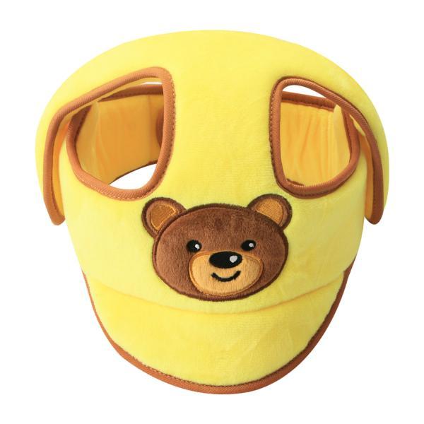 黄色を這うための幼児の幼児の安全キッドヘッド保護帽子