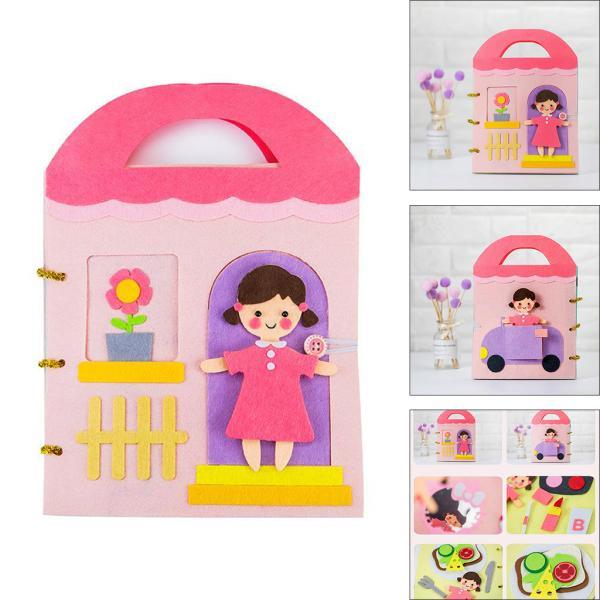 やわらかい布赤ちゃん開発学習本教育玩具お姫様の日