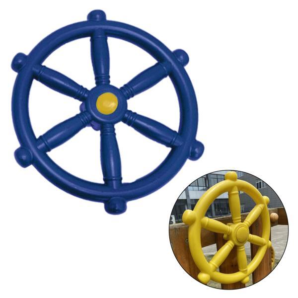 スイングセット屋外プレイセット裏庭ブルー用ポータブル18.81インチ海賊船ホイール