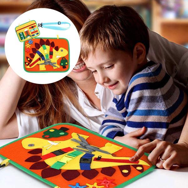 忙しい幼児のためのモンテッソーリのおもちゃドレスモータスキルする方法については、教育感覚とバックル、ジッパー幼児活動おもちゃ
