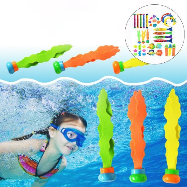 プラスチック製のスイミングダイビングセット夏の楽しいスイミングプールのおもちゃ38PCS