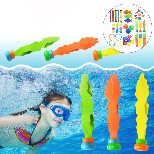 プラスチック製のスイミングダイビングセット夏の楽しいスイミングプールのおもちゃ43PCSA