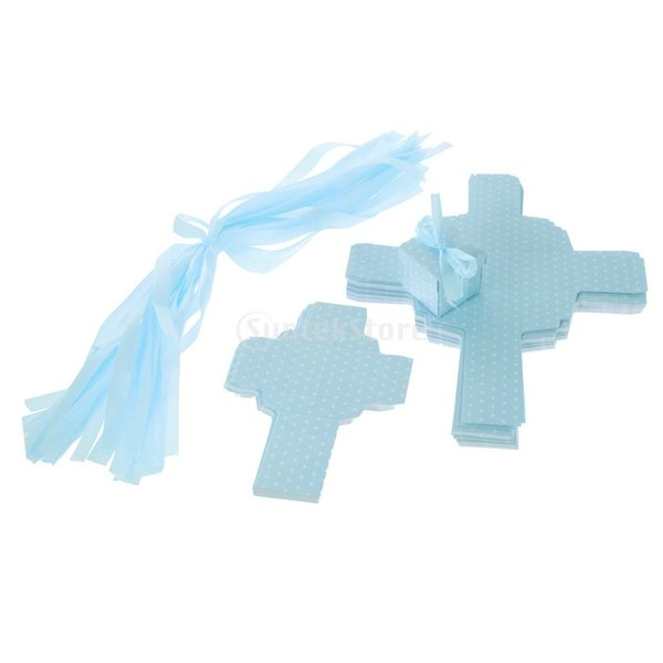 誕生日おめでとう贈り物青いお菓子箱50個入り正方形の水玉模様